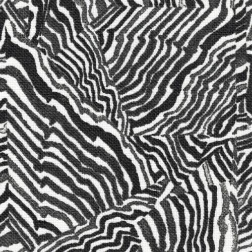 Agate Ink Geometric Black & Gray Gathered Bedskirt