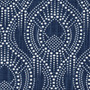 Alyssa Regal Navy Dotted Print Gathered Bedskirt