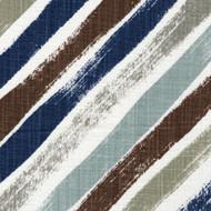 Stella Regal Blue Diagonal Stripe Rod Pocket Tailored Tier Curtain Panels