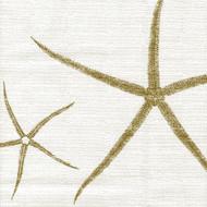 Sea Star Sand Nature Print Beige Shower Curtain