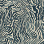 Agate Indigo Geometric Blue Print Round Tablecloth with Topper