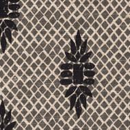 Boca Granite Black Medallion Round Tablecloth with Topper