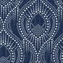 Alyssa Regal Navy Dotted Print Neck Roll Pillow