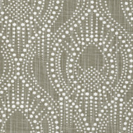 Alyssa Regal Taupe Dotted Print Rod Pocket Curtain Panels
