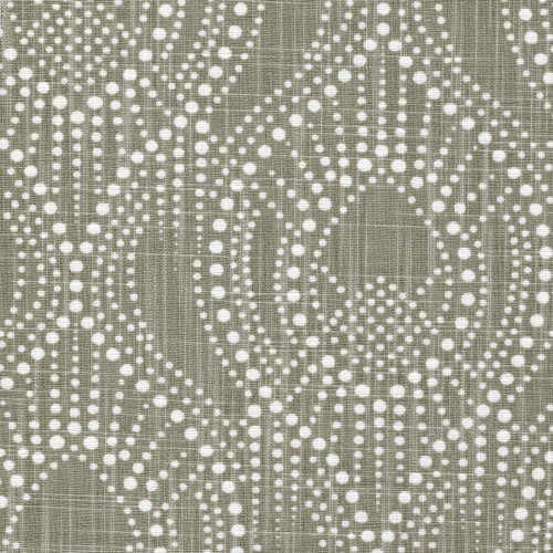 Alyssa Regal Taupe Dotted Print Round Tablecloth with Topper