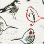 Bird Toile Scarlet Red Chinoiserie Shower Curtain