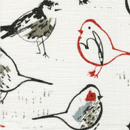 Bird Toile Scarlet Red Chinoiserie Round Tablecloth