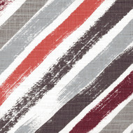 Stella Scarlet Red Diagonal Stripe Round Tablecloth with Topper