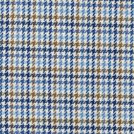 Hamilton Lake Houndstooth Plaid Blue Tailored Tier Curtain Panels