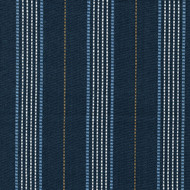 Warren Cobalt Stripe Blue Pinch-Pleated Curtain Panels