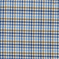 Hamilton Lake Houndstooth Plaid Blue Round Tablecloth with Topper