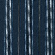 Warren Cobalt Stripe Blue Round Tablecloth with Topper