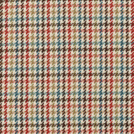 Hamilton Terra Cotta Houndstooth Plaid Round Tablecloth with Topper