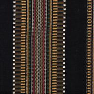 Dakota Black Woven Stripe Gathered Bedskirt