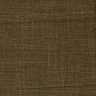 Gent Chocolate Brown Solid Round Tablecloth with Topper
