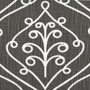 Barcelona Summerland Gray Scroll Shower Curtain