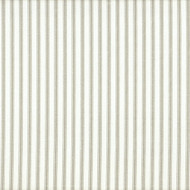 French Country Pebble Taupe Ticking Stripe Gathered Bedskirt