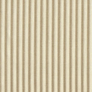 French Country Linen Beige Ticking Stripe Gathered Bedskirt