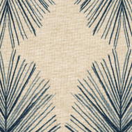 Tulum Indigo Geometric Blue Round Tablecloth