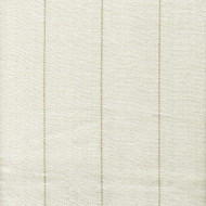 Copley Stripe Ivory Round Tablecloth with Topper