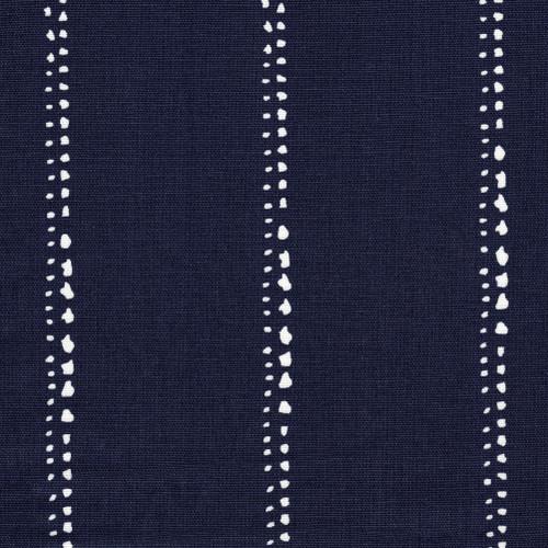 Carlo Vintage Indigo Stripe Gathered Bedskirt