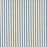 French Country Nautical Blue Ticking Stripe Gathered Bedskirt