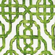 Imperial Jade Green Lattice Pinch-Pleated Curtain Panels