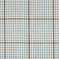 Pembrook Houndstooth Seaglass Pinch-Pleated Curtain Panels