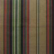 Carlton Stripe Night Pinch-Pleated Curtain Panels