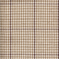 Pembrook Houndstooth Oyster Round Tablecloth with Topper