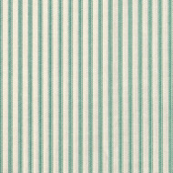 French Country Pool Green Ticking Stripe Tailored Bedskirt