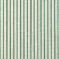 French Country Pool Green Ticking Stripe Gathered Bedskirt