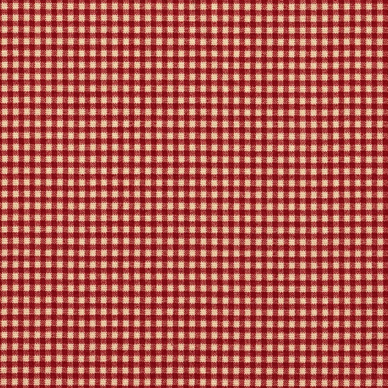 French Country Crimson Gingham Gathered Bedskirt Close