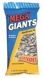 Mega GIANTS Salted Sunflower Seeds - 9.0 oz. Bags (12 Count Case)