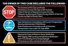 Travel Declaration Sticker