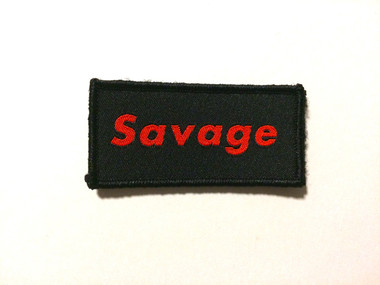 Savage - Morale Patch, Red and Black color way.