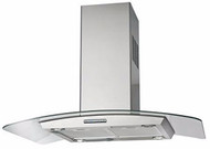 Award ICG90-SI 90cm Low Noise Curved Glass Island Canopy Hood
