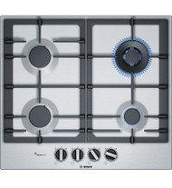 Bosch Series 6 60 cm Gas Cooktop, Stainless steel
