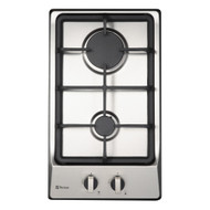 Parmco HO-1-2S-2G Compact Stainless Steel DominoGas Hob 300mm