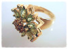Daisy Ring-18K and Semi Precious stones