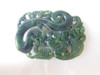 """Carved Green Jade Pendant- Side 1 2"""" x 1.4""""   $1600.00 - Original Quote  $  350.00 - NY City Quote"""