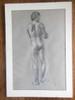Charcoal and pastel nude male drawing by Jane A Gordon