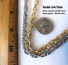 Double Linked Chain by the foot- gold plate