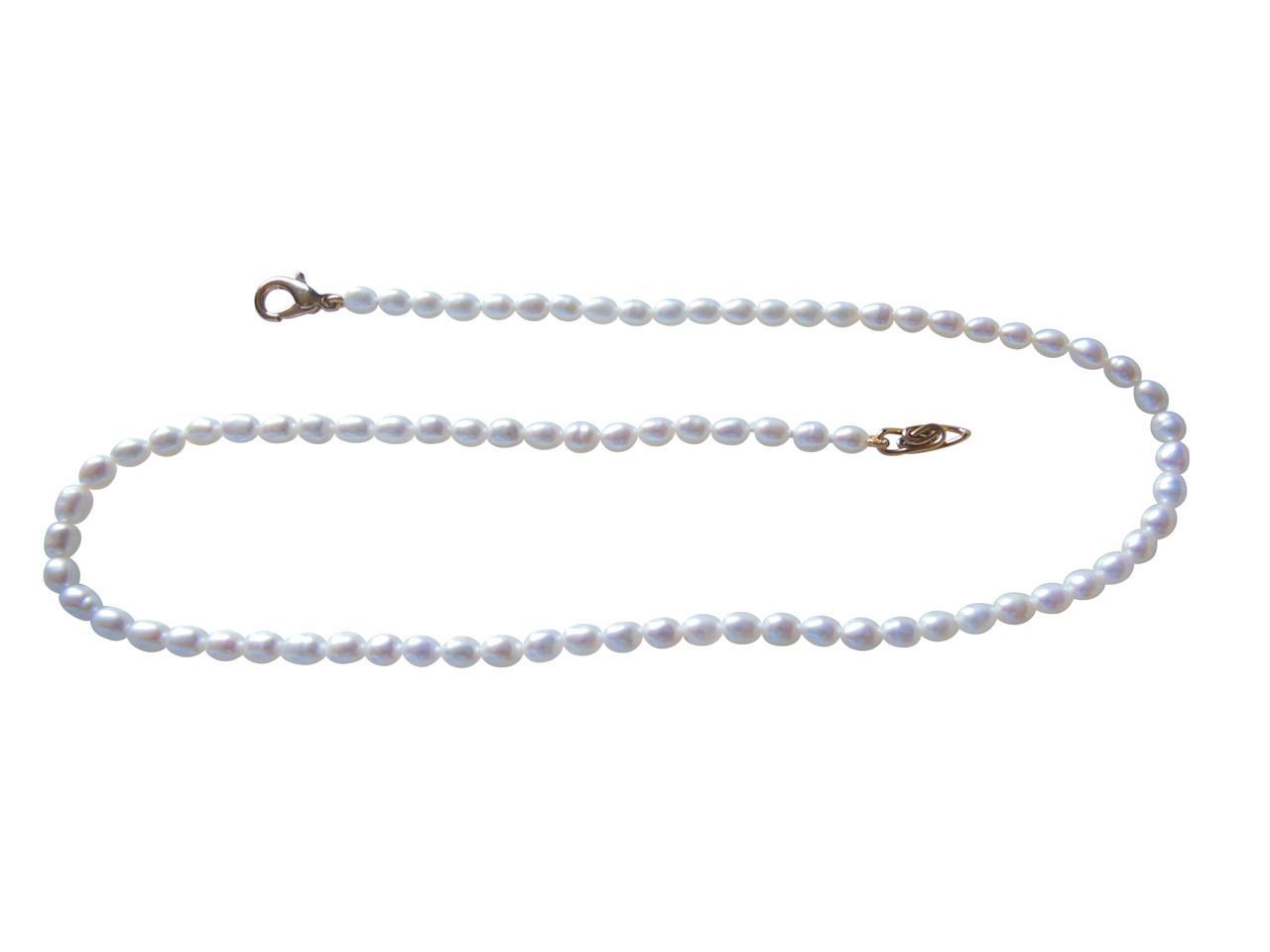 Rice shaped freshwater pearls from China- necklace