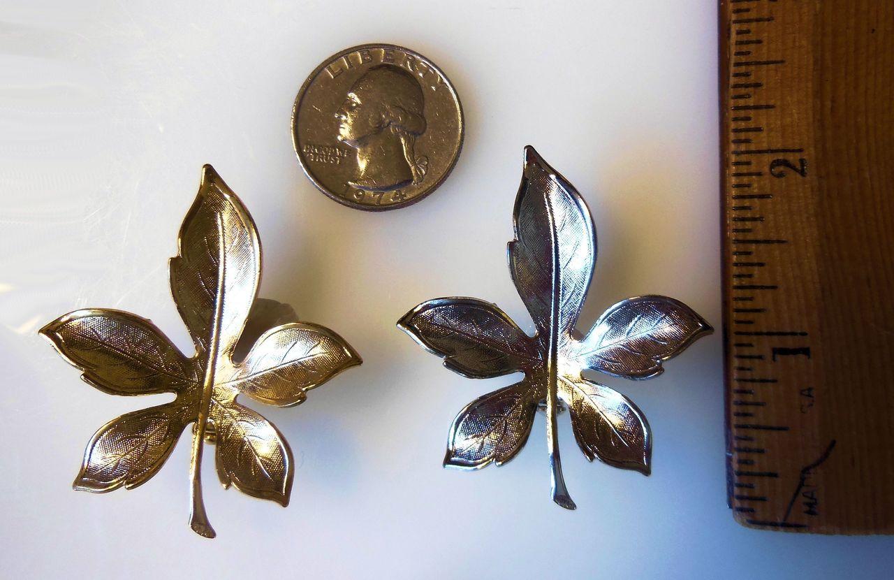Leaf Pins- Silver Metal