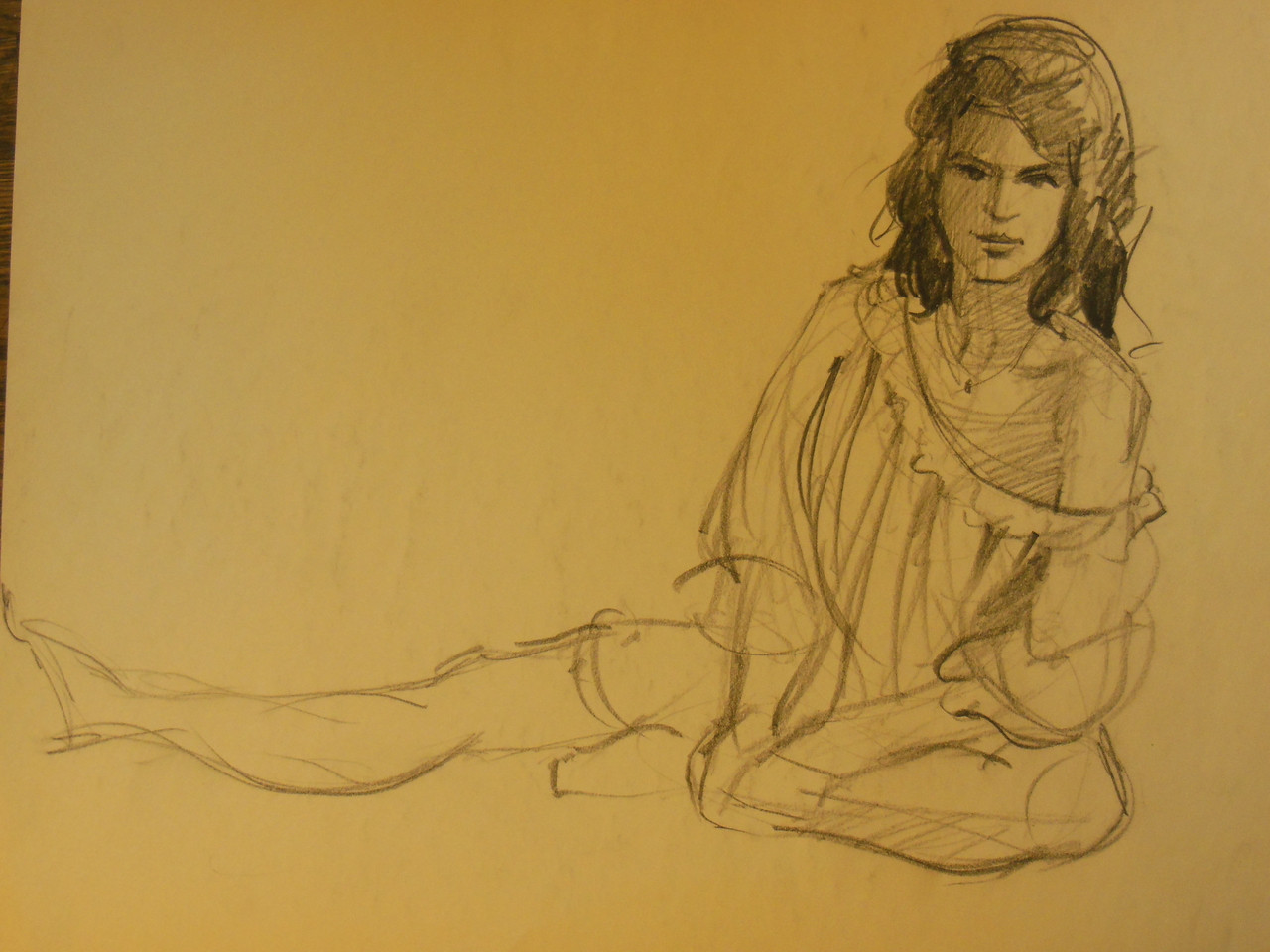 Portrait of an Artist - Drawing on Paper- #2  Russ Cormer