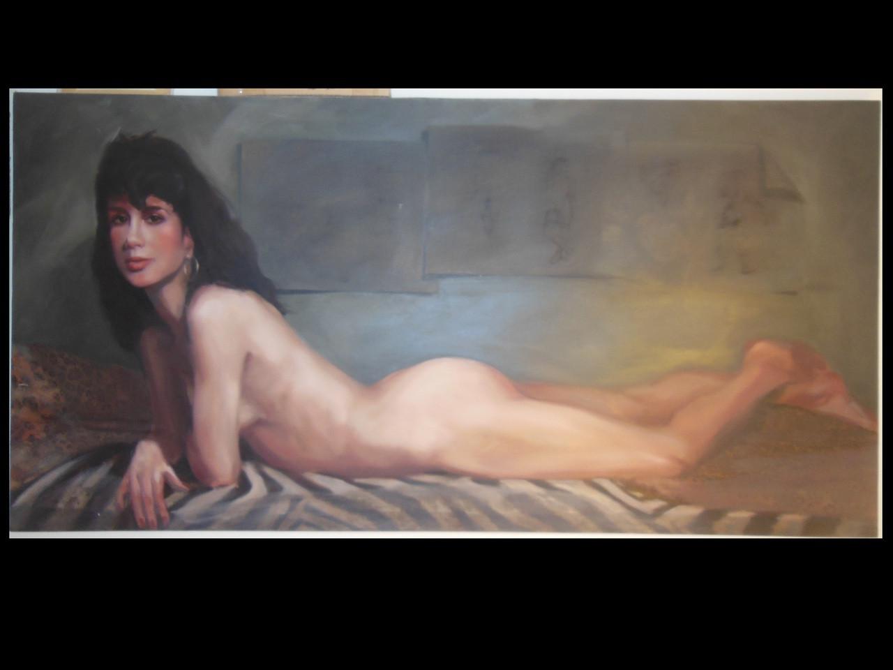 Portrait of an Artist- #5 -Oil on Canvass.  Russ Cormer