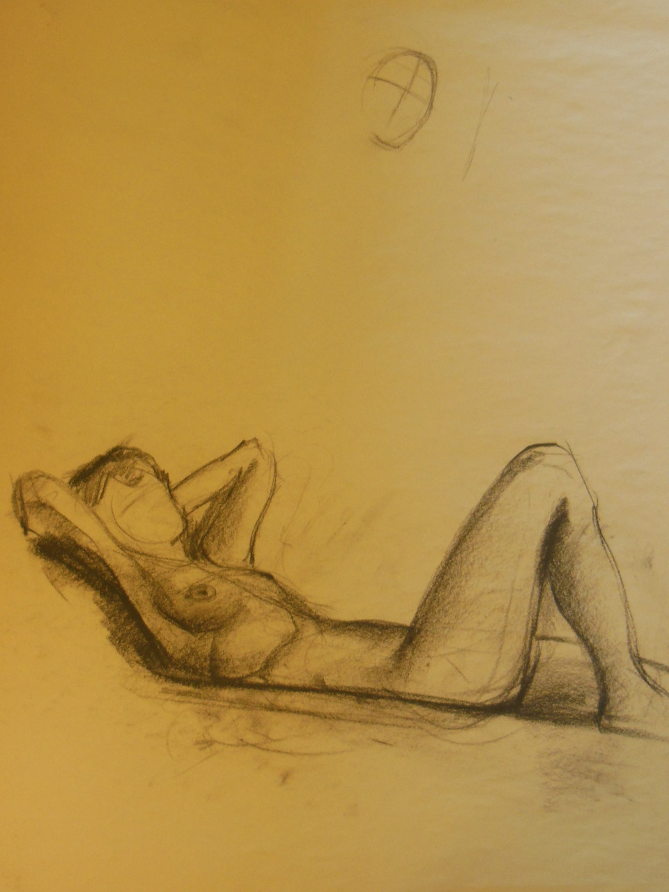 Portrait of an Artist - Unfinished Drawing on Paper- #4  Russ Cormer