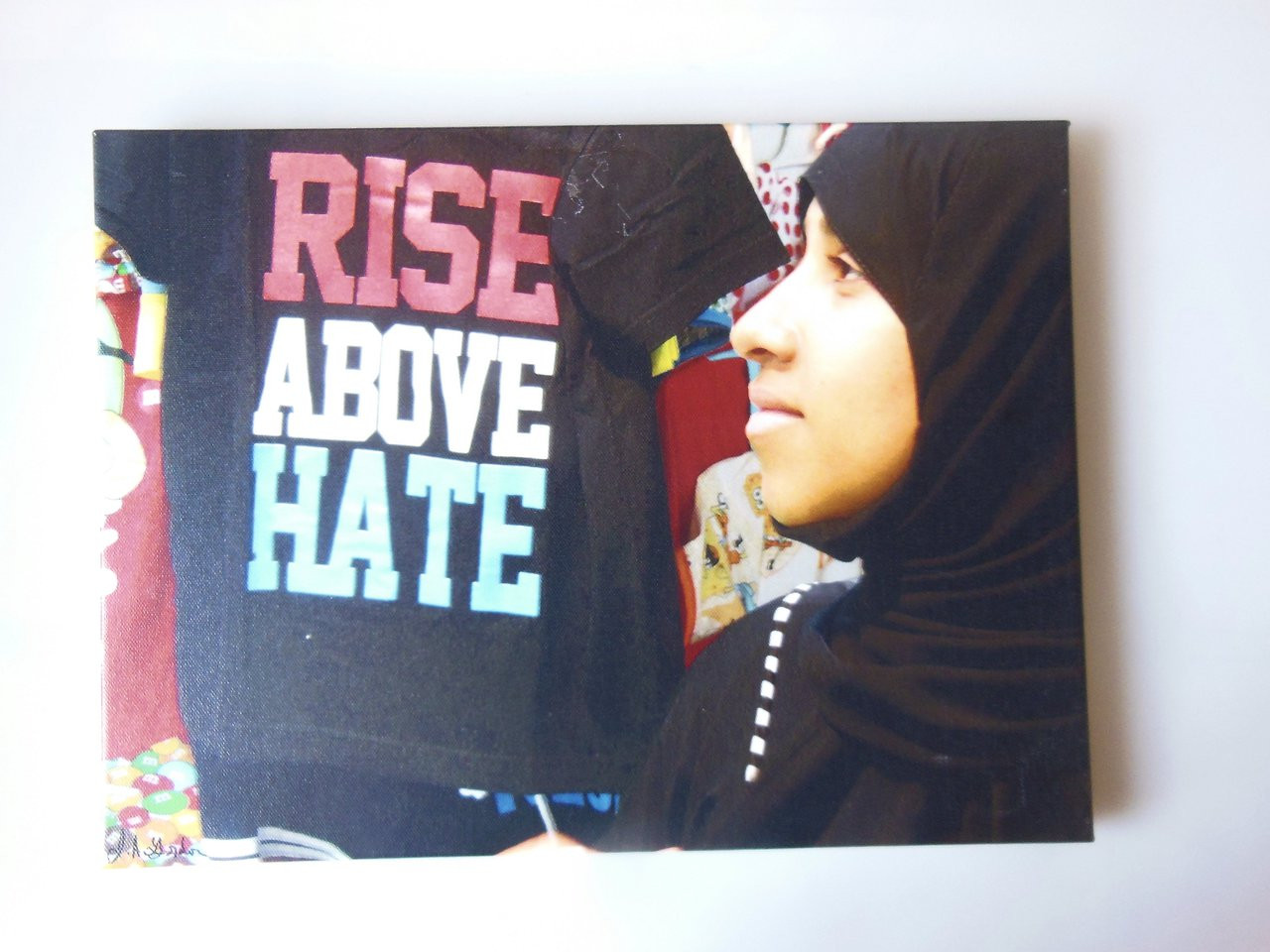 Rise Above Hate. Be Yourself as You See Yourself. Oman Marketplace.  Giclee