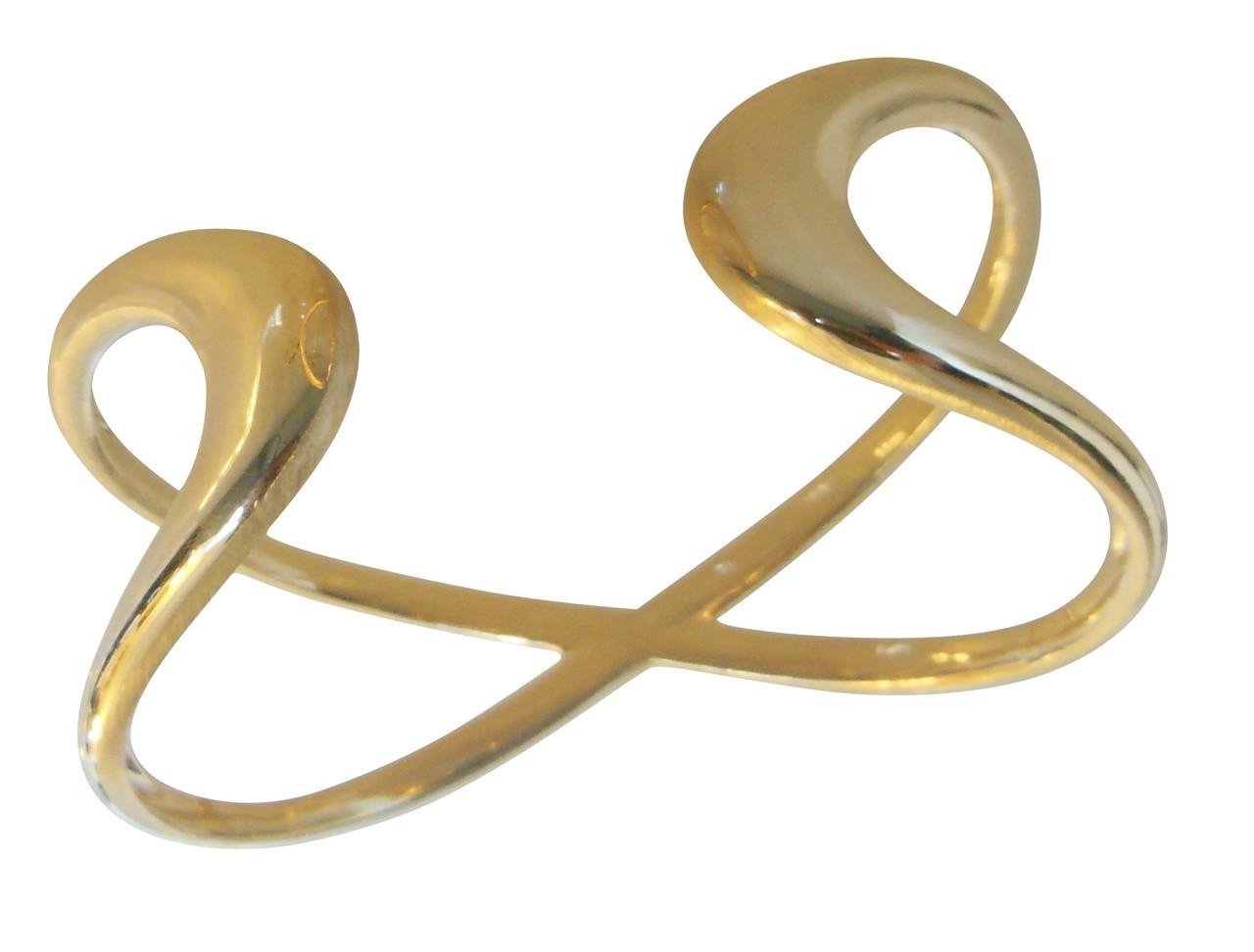 Infinity Cuff Bracelet- 14K gold